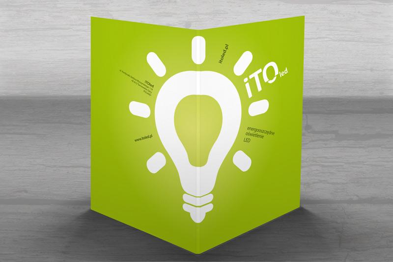 Projekt teczki ofertowej - firma Itoled